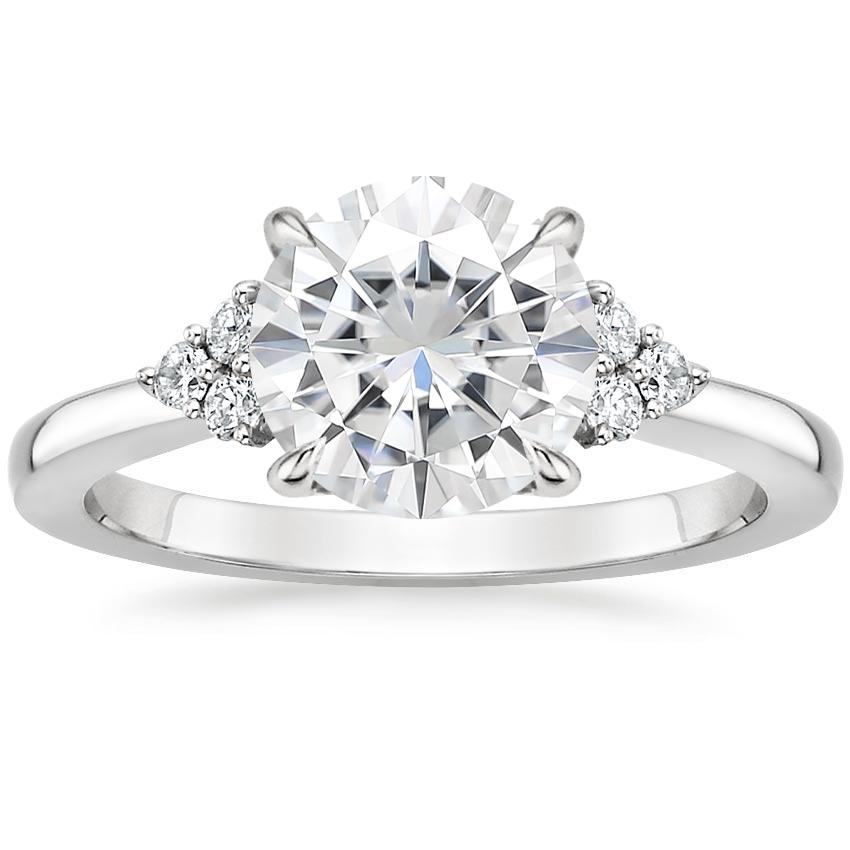 Moissanite Melody Diamond Ring in 18K White Gold