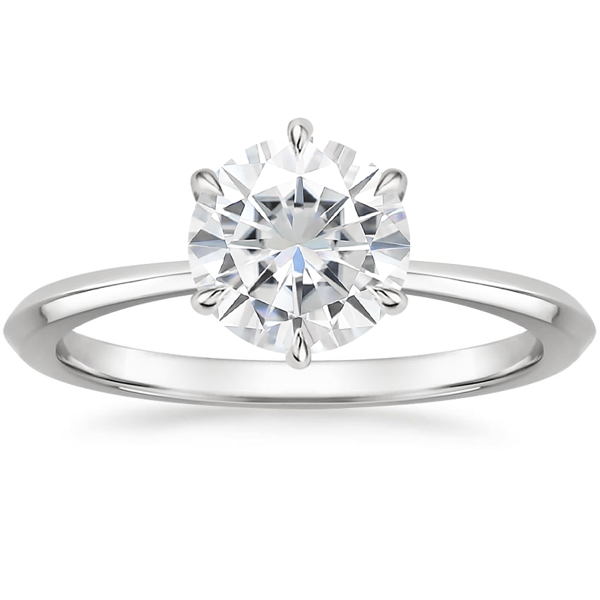 Moissanite Channing Ring in Platinum