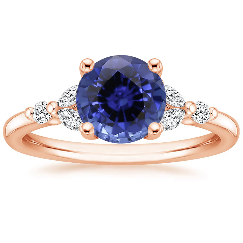 Rose Gold Sapphire Verbena Diamond Ring