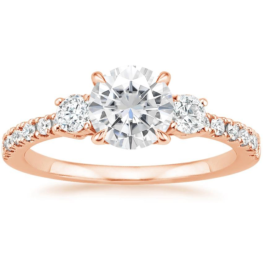 Rose Gold Moissanite Radiance Diamond Ring (1/3 ct. tw.)