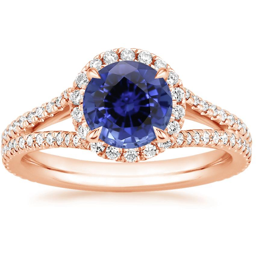 Rose Gold Sapphire Fortuna Diamond Ring (1/2 ct. tw.)