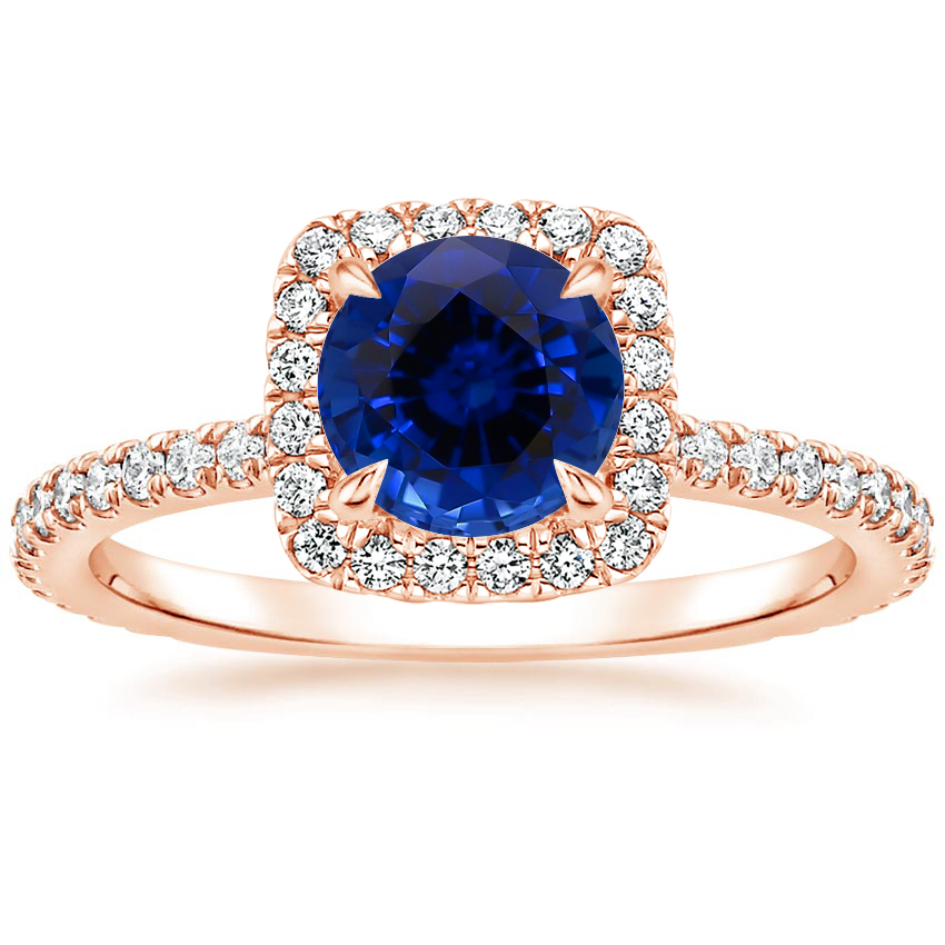 Rose Gold Sapphire Giselle Diamond Ring (1/2 ct. tw.)