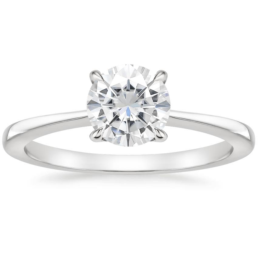 Moissanite Elle Ring in Platinum
