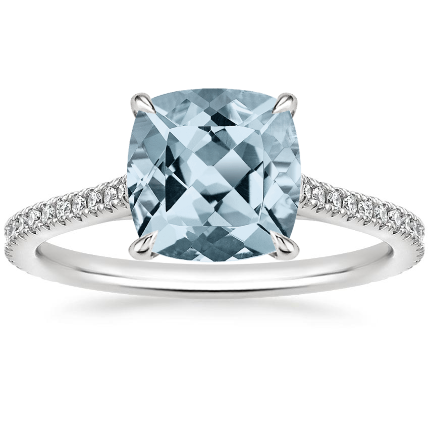 Aquamarine Luxe Lissome Diamond Ring (1/5 ct. tw.) in 18K White Gold