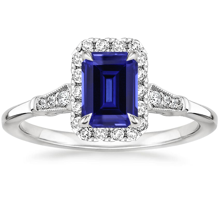 Sapphire Linden Diamond Ring in Platinum