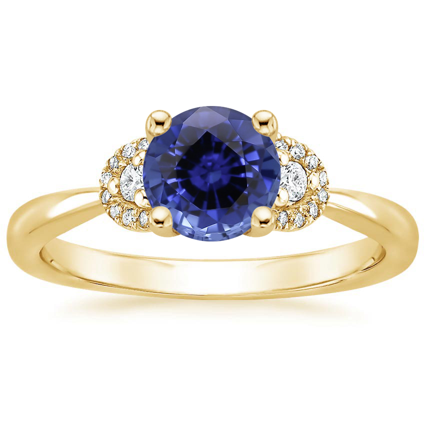 Yellow Gold Sapphire Lorelai Diamond Ring