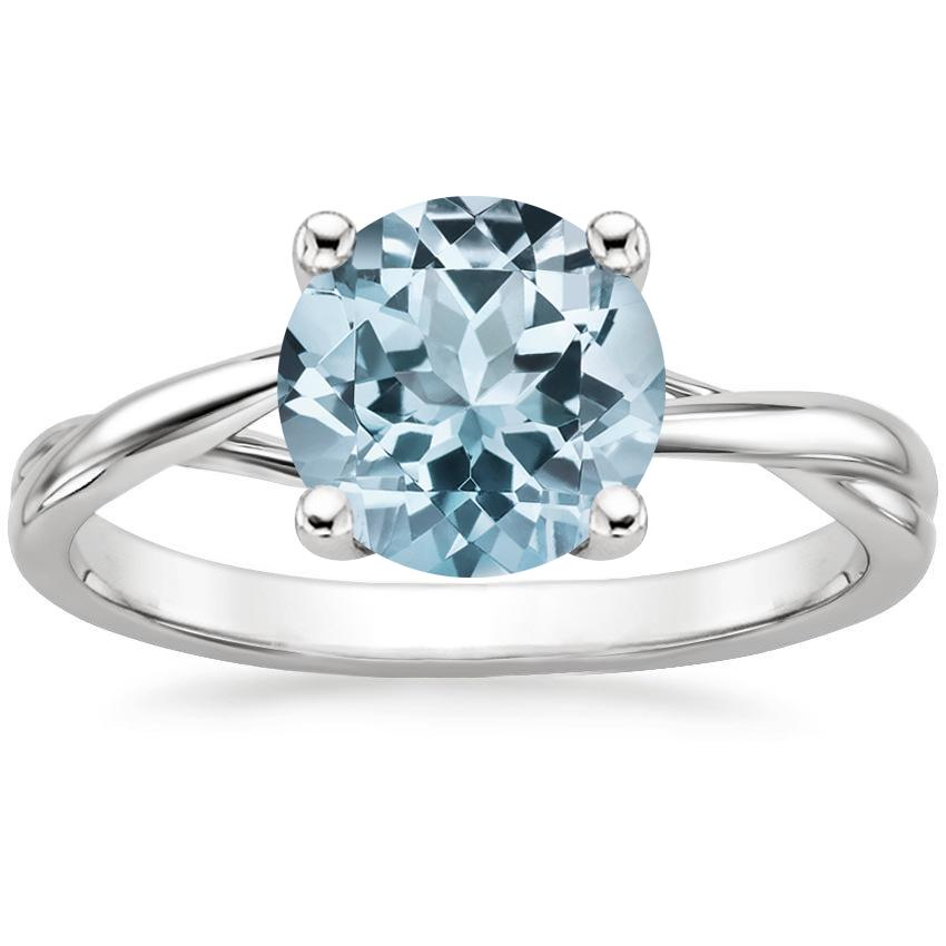 Aquamarine Grace Ring in Platinum