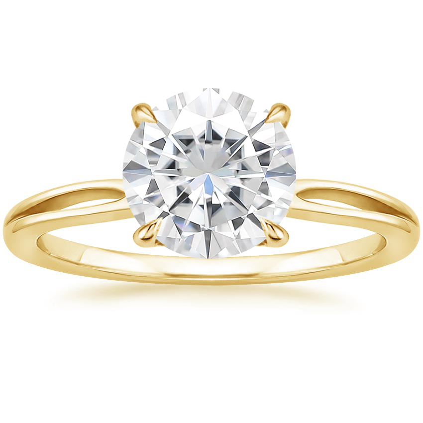Yellow Gold Moissanite Kalina Ring