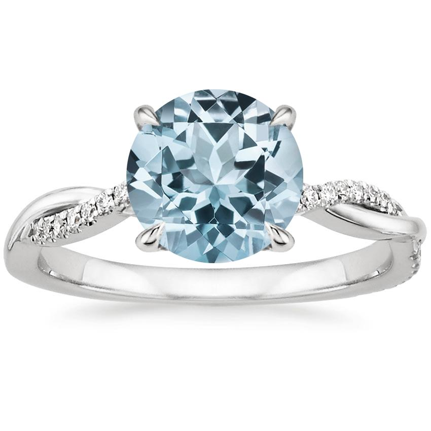 aquamarine earth gemstone brilliant willow rings diamond precious white gold semiprecious semi aqua engagement ring