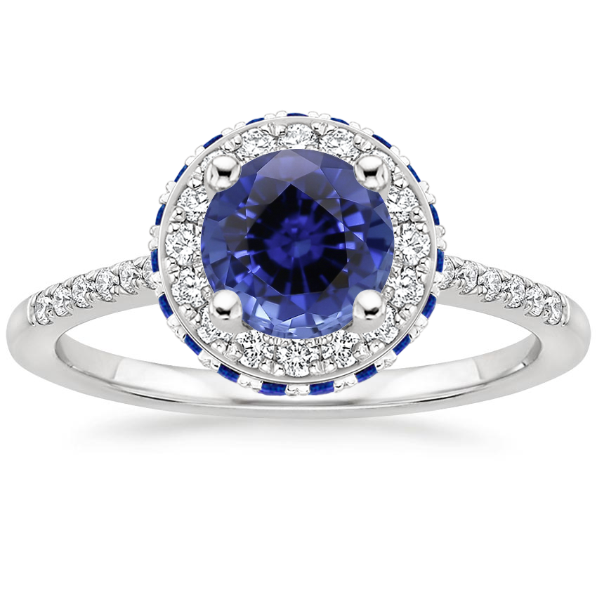 Sapphire Circa Diamond Ring with Sapphire Accents (1/4 ct. tw.) in 18K White Gold