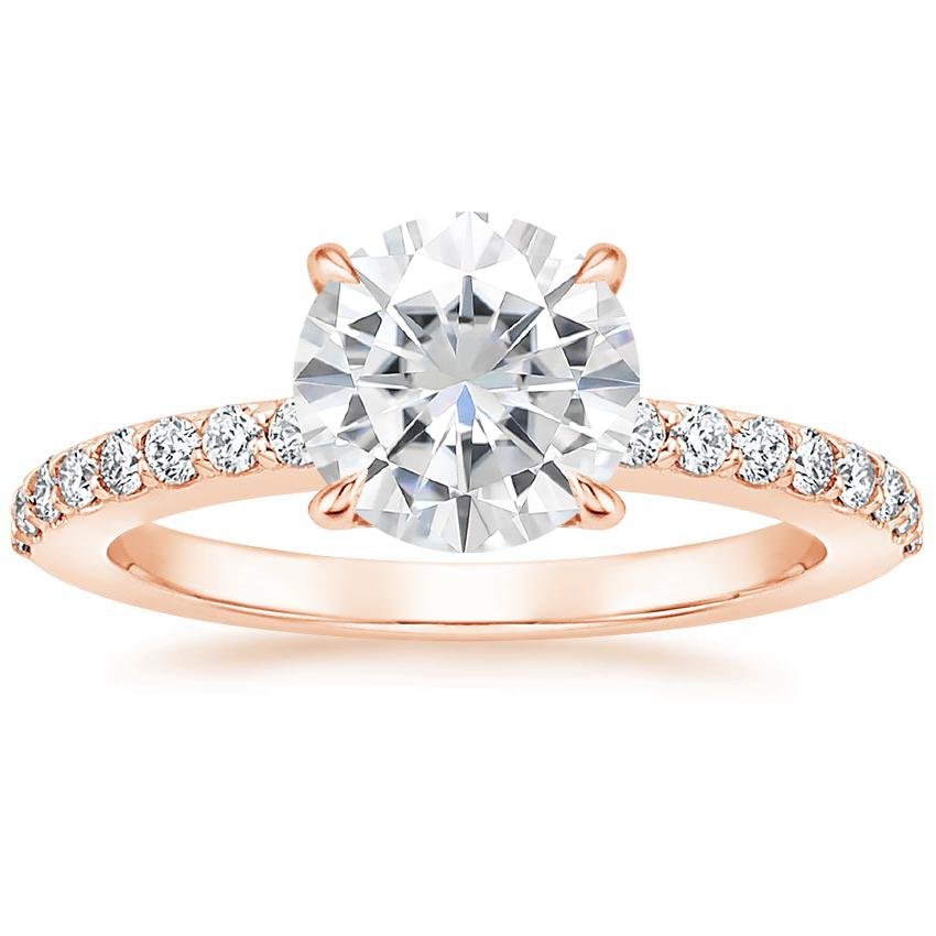 Rose Gold Moissanite Luxe Elodie Diamond Ring (1/4 ct. tw.)