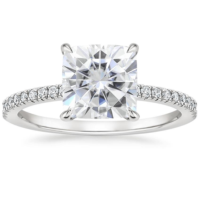 Moissanite Viviana Diamond Ring (1/4 ct. tw.) in Platinum