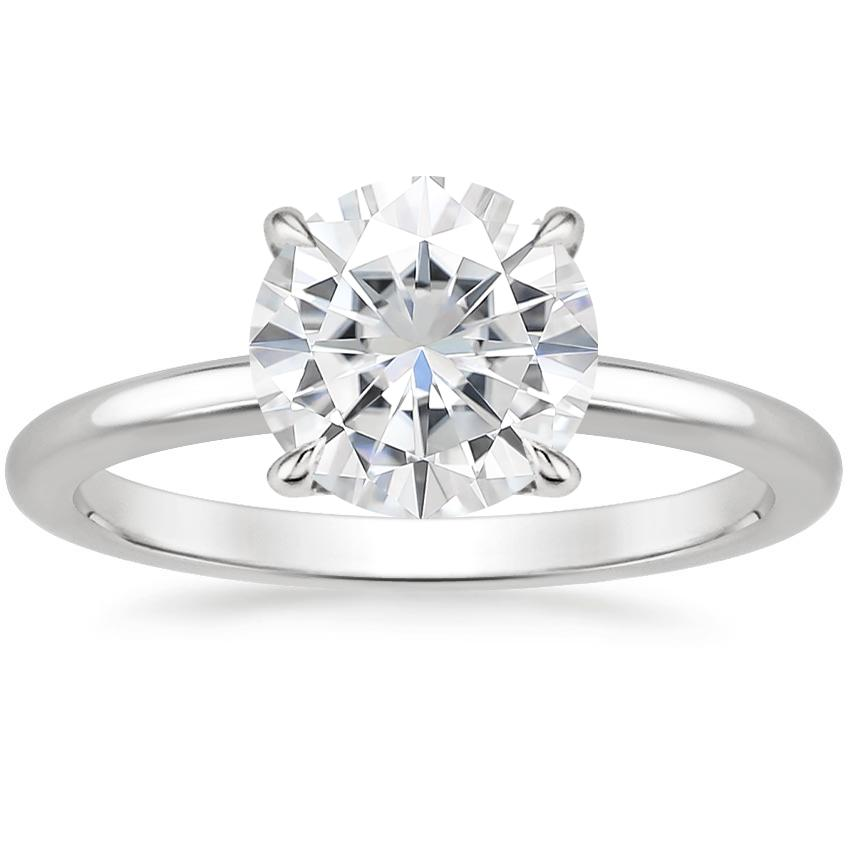 Moissanite Elodie Ring in 18K White Gold