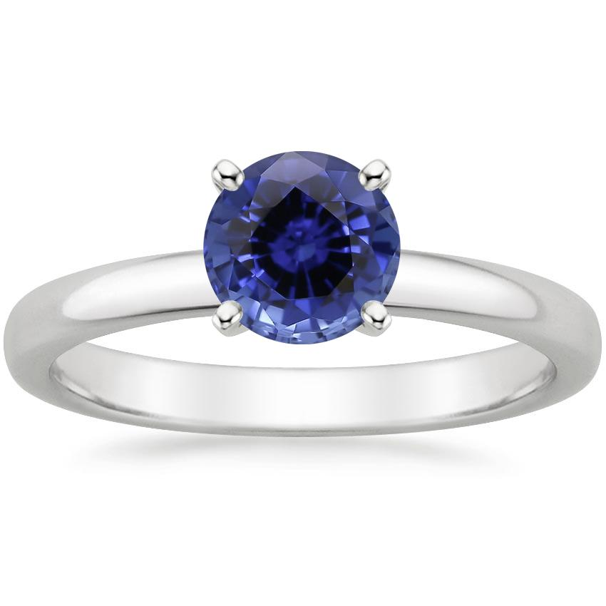 Sapphire 2.5mm Comfort Fit Ring in 18K White Gold