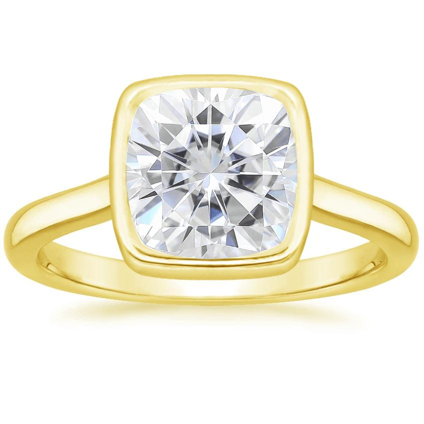 Yellow Gold Moissanite Luna Ring