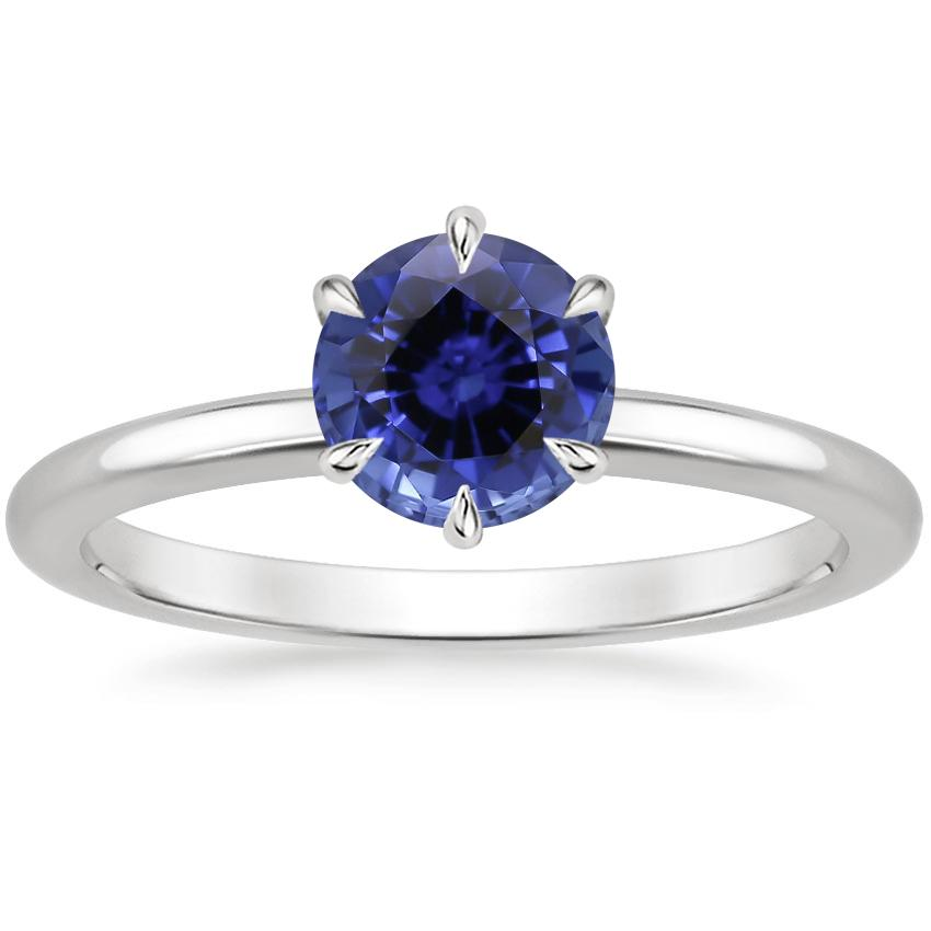 Sapphire Esme Ring in 18K White Gold