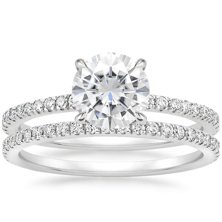 PT Moissanite Luxe Viviana Diamond Bridal Set (1/2 ct. tw.), top view