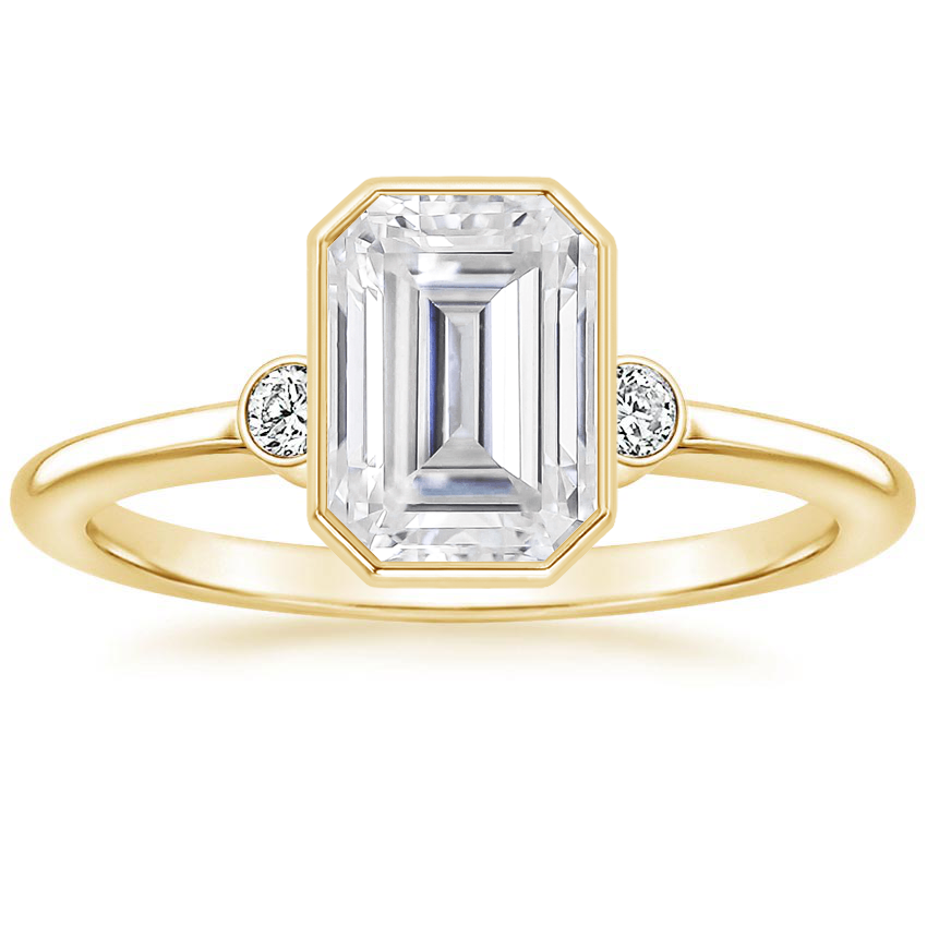 Yellow Gold Moissanite Mila Diamond Ring
