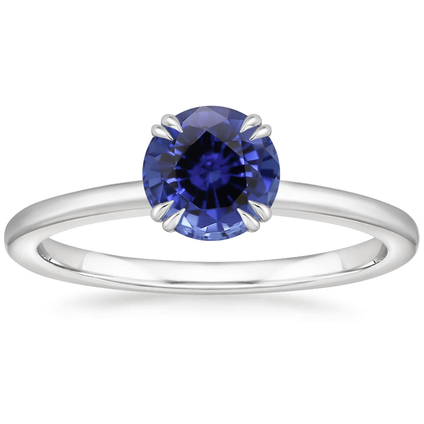 Sapphire Sora Diamond Ring in 18K White Gold