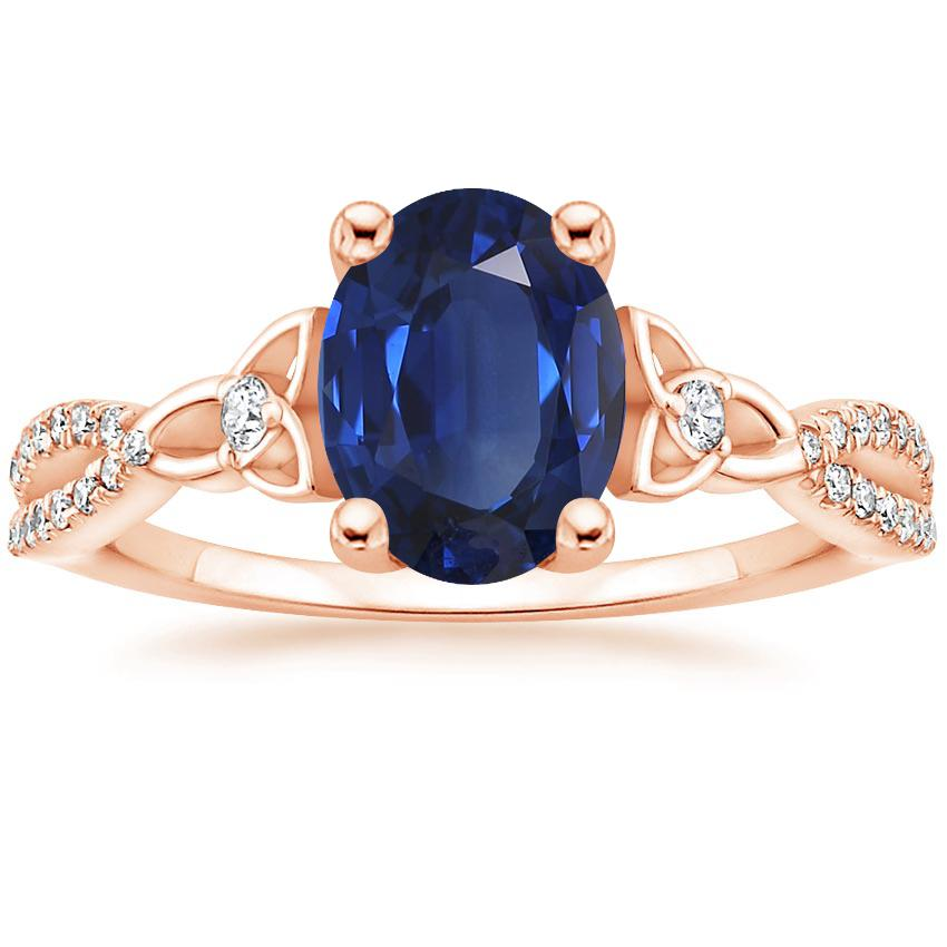 Sapphire Luxe Entwined Celtic Love Knot Diamond Ring In