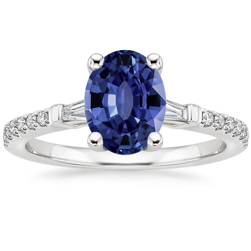 Sapphire Luxe Tapered Baguette Diamond Ring (1/4 ct. tw.) in 18K White Gold