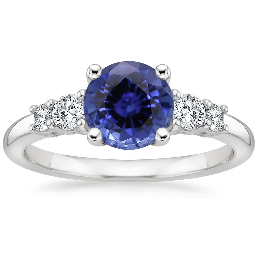 Sapphire Rialto Diamond Ring (1/4 ct. tw.) in 18K White Gold