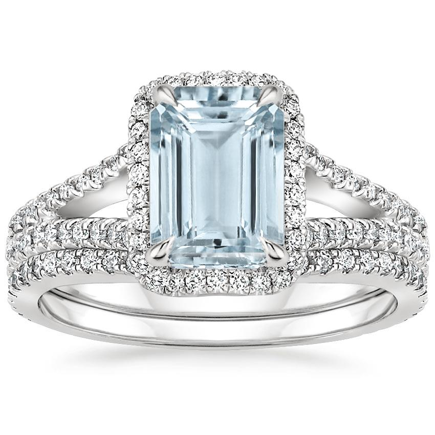 PT Aquamarine Fortuna Diamond Bridal Set (2/3 ct. tw.), top view
