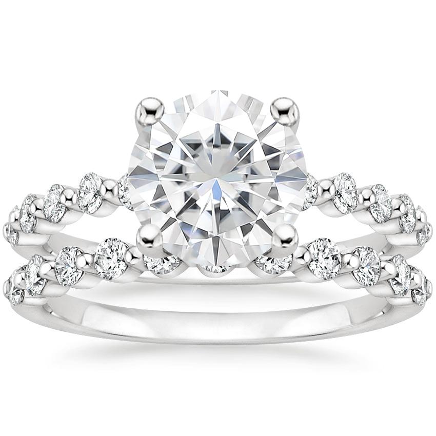18KW Moissanite Marseille Diamond Bridal Set (1/2 ct. tw.), top view