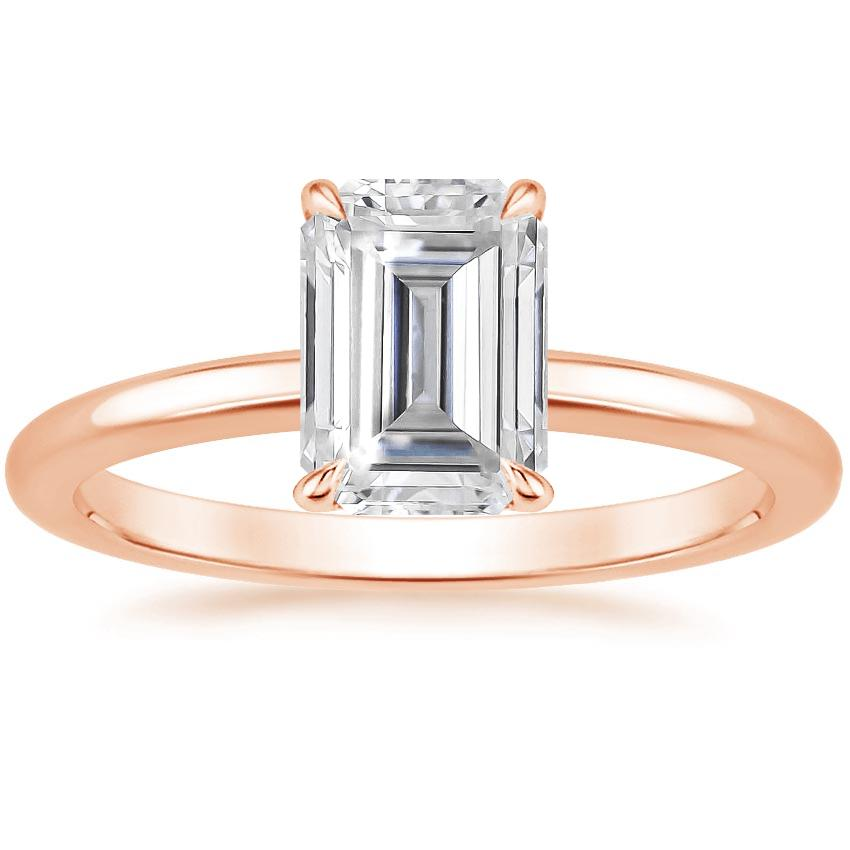 Rose Gold Moissanite Elodie Ring