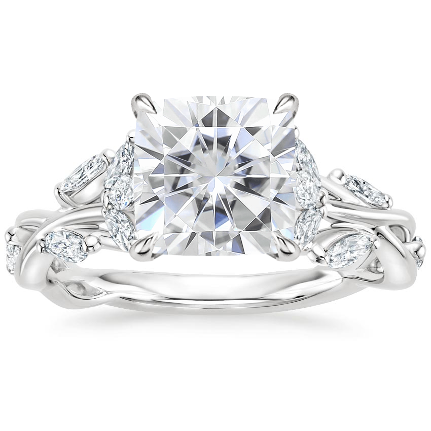 Moissanite Secret Garden Diamond Ring (1/2 ct. tw.) in 18K White Gold
