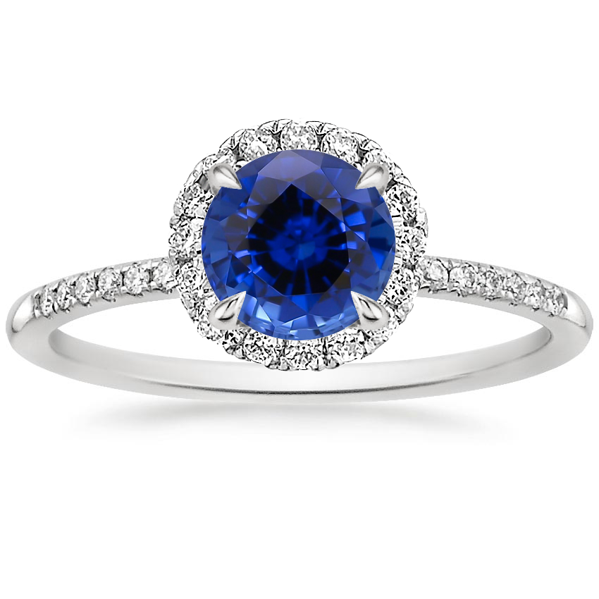 Sapphire Cambria Diamond Ring in Platinum