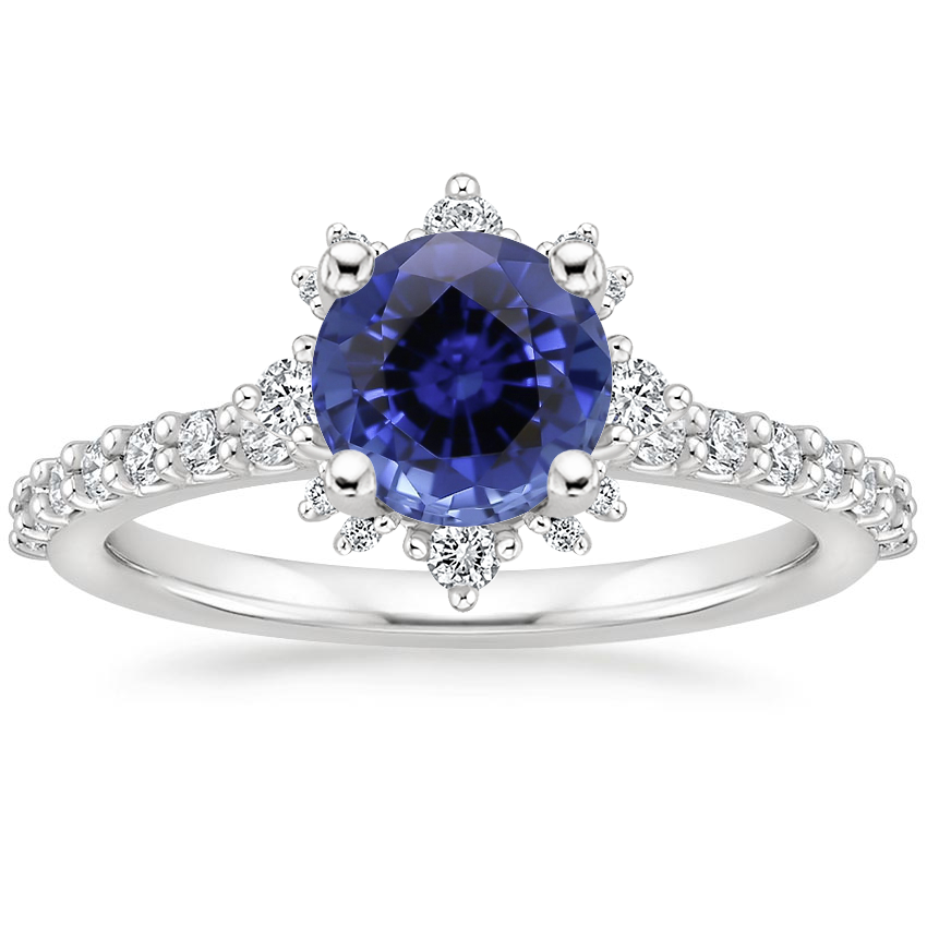 Sapphire Arabella Diamond Ring (1/3 ct. tw.) in 18K White Gold