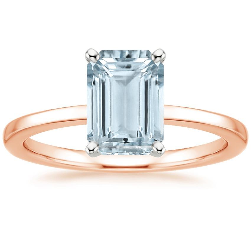 Rose Gold Aquamarine Petite Quattro Ring