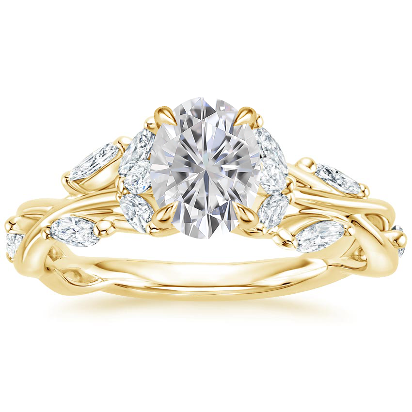 Yellow Gold Moissanite Secret Garden Diamond Ring (1/2 ct. tw.)