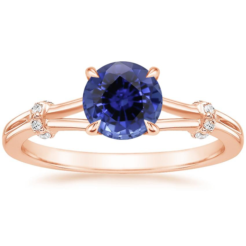 Rose Gold Sapphire Odelia Diamond Ring