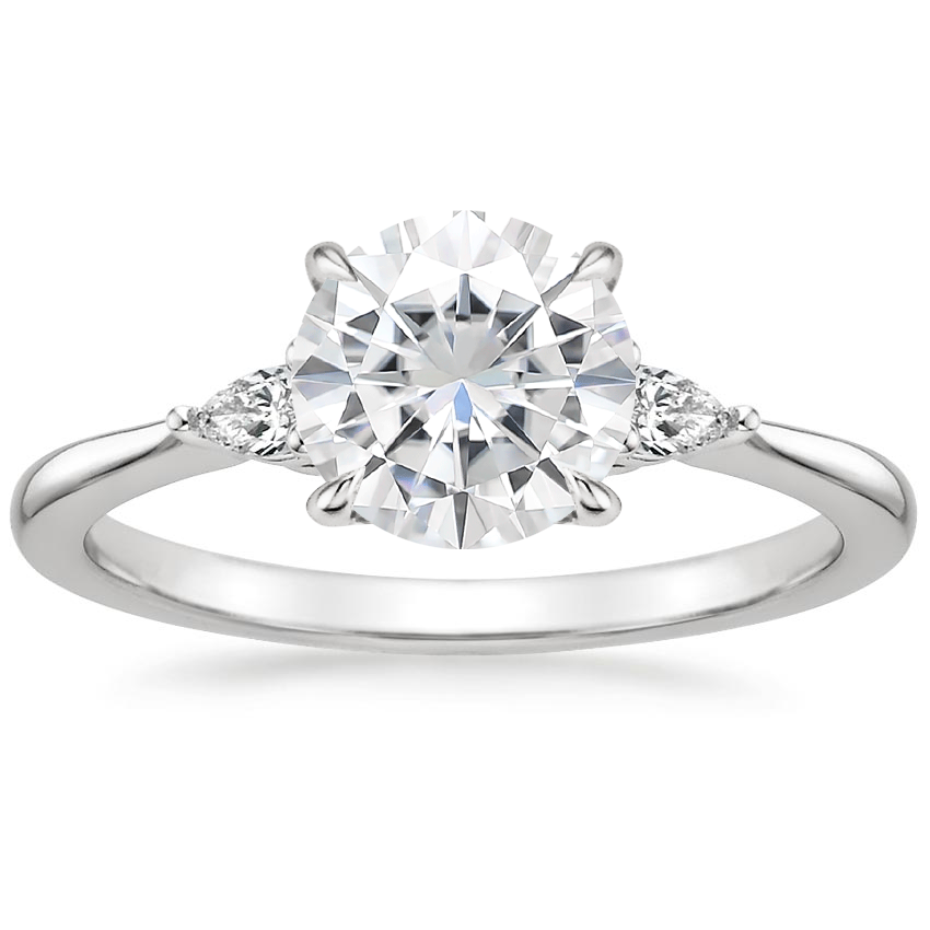 Moissanite Aria Diamond Ring (1/10 ct. tw.) in 18K White Gold