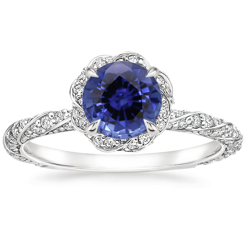 Sapphire Nova Diamond Ring (1/2 ct. tw.) in 18K White Gold