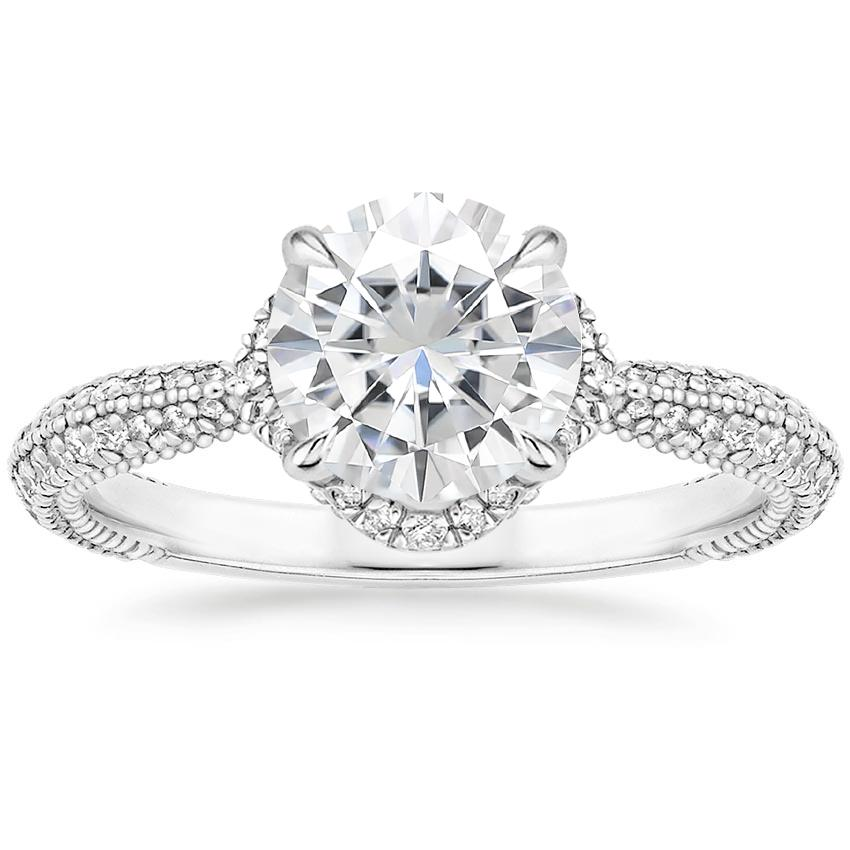 Moissanite Aster Diamond Ring (1/3 ct. tw.) in 18K White Gold