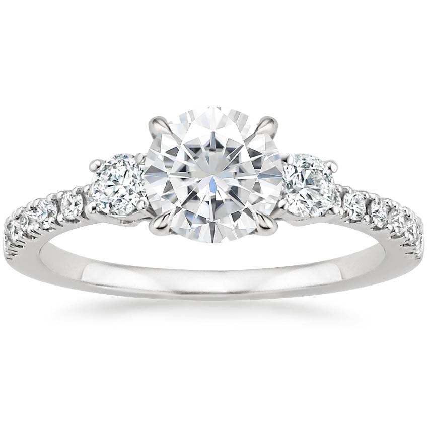 Moissanite Radiance Diamond Ring (1/3 ct. tw.) in Platinum