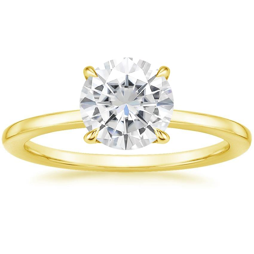 Yellow Gold Moissanite Lumiere Diamond Ring