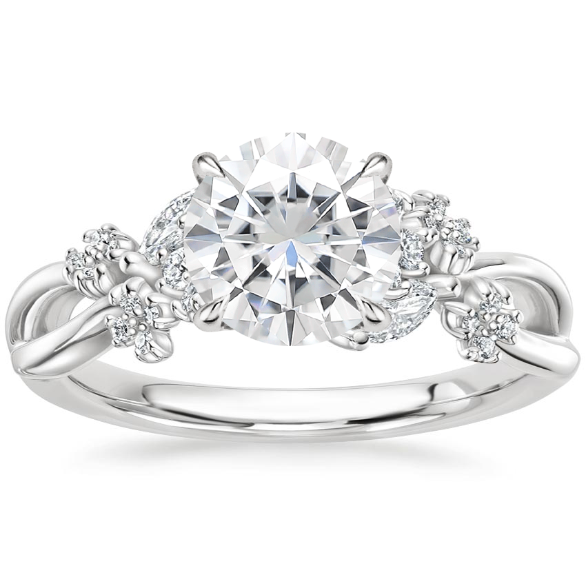 Moissanite Summer Blossom Diamond Ring (1/4 ct. tw.) in 18K White Gold