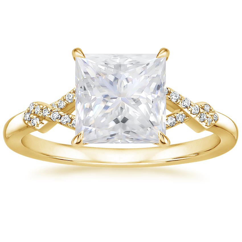 Yellow Gold Moissanite Vera Diamond Ring