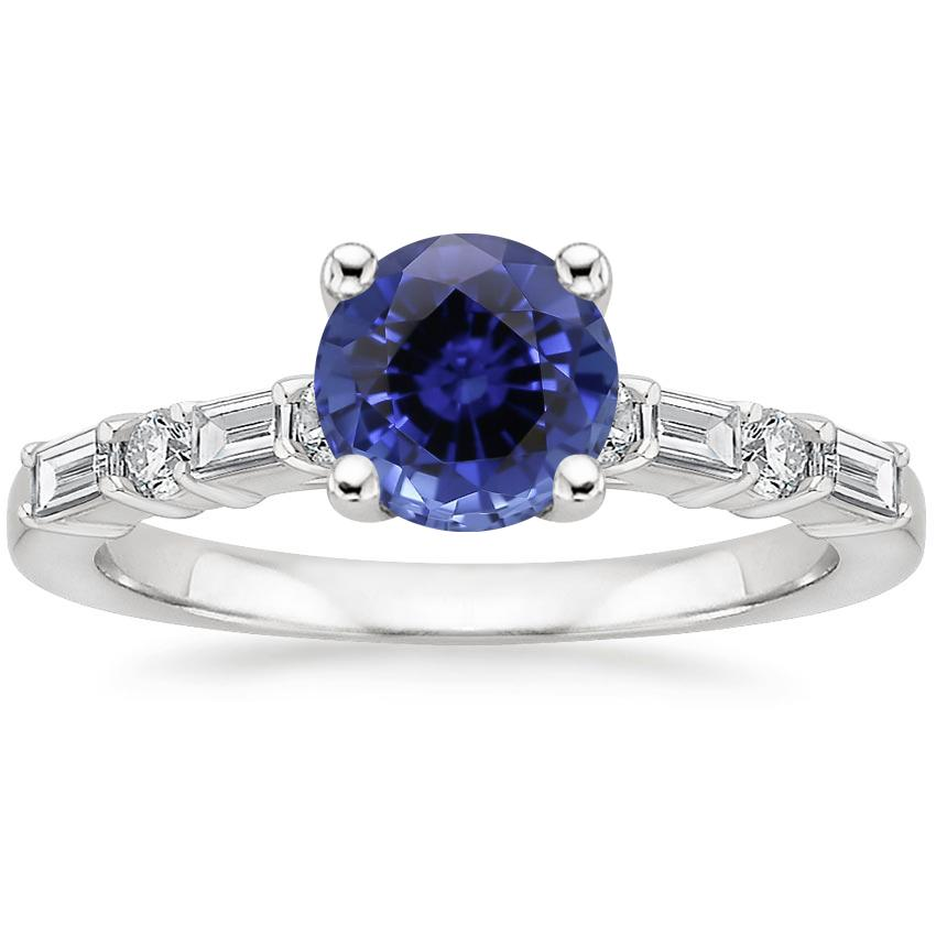 Sapphire Leona Diamond Ring (1/4 ct. tw.) in 18K White Gold