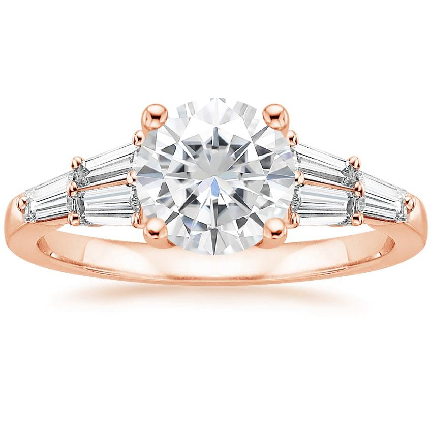 Rose Gold Moissanite Harlow Diamond Ring (1/2 ct. tw.)