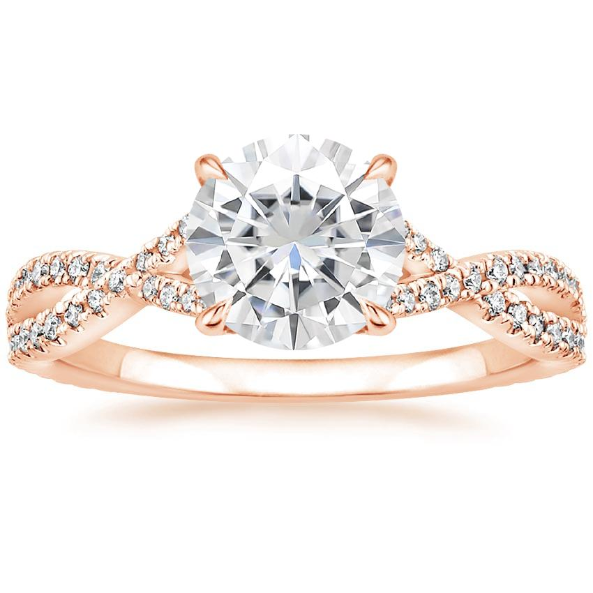 Rose Gold Moissanite Chloe Diamond Ring (1/4 ct. tw.)