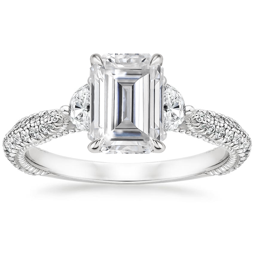Moissanite Rosemont Diamond Ring in 18K White Gold