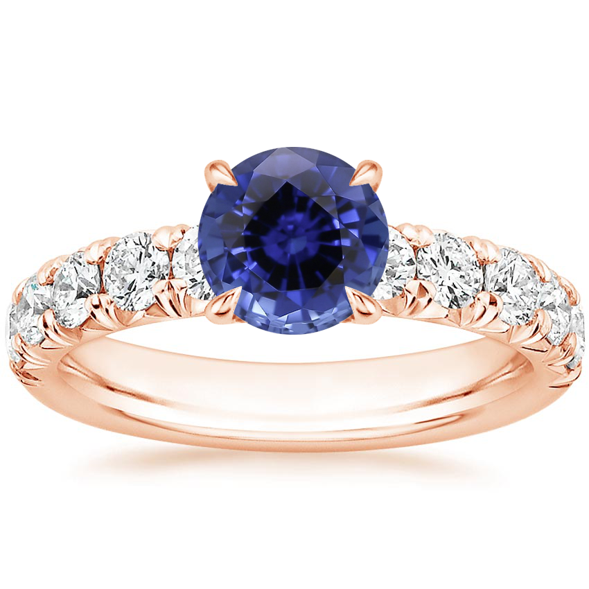 Rose Gold Sapphire Ellora Diamond Ring