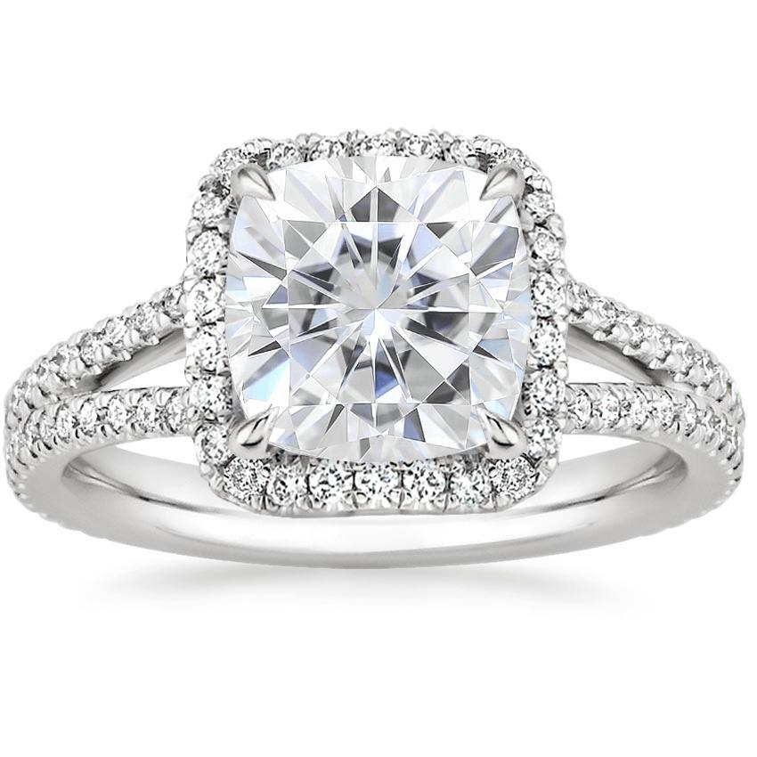 Moissanite Fortuna Diamond Ring (1/2 ct. tw.) in Platinum