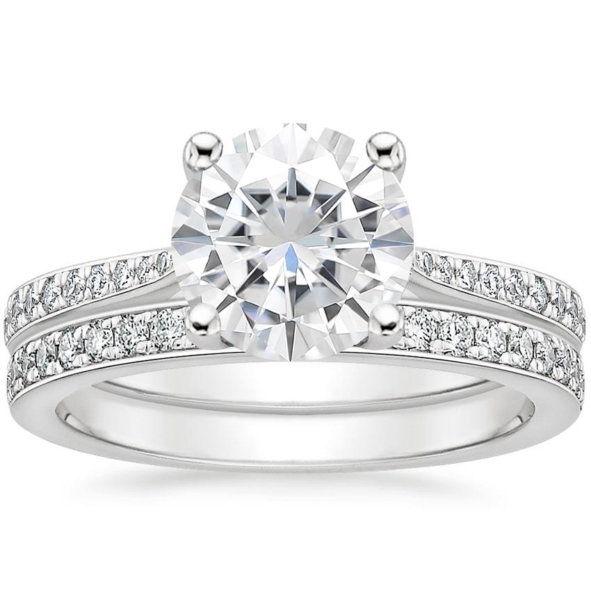 PT Moissanite Geneva Diamond Bridal Set (1/4 ct. tw.), top view