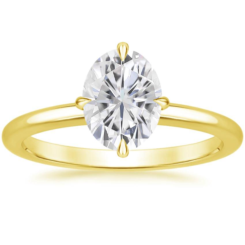 Yellow Gold Moissanite North Star Ring